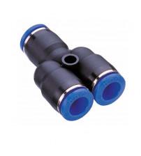 Y-образный фитинг-тройник  для  cоединения шлангов диаметром 10 мм (CPY)