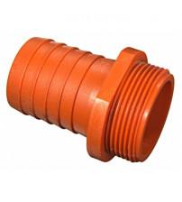 Штуцер пластиковый 1 1/2 (40) наружный на 40 мм