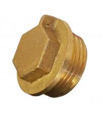 Заглушка латунная 3/4 (20 мм)  наружная резьба