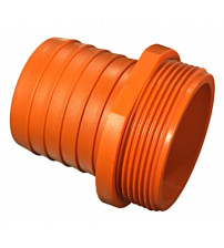 Штуцер пластиковый 2 (50) наружный на 40 мм
