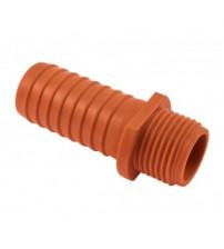 Штуцер пластиковый 1/2 наружный на 17 мм